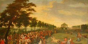 Am linken unteren Bildrand ist das Schleifrad mit Hansl und Gretel zu entdecken.
